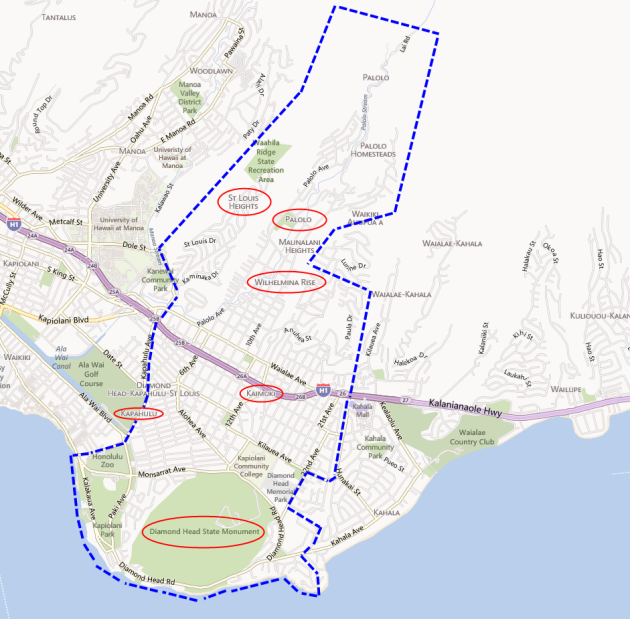Sources: Bing Maps, City and County of Honolulu DPP, and Chris Ponsar, MAI