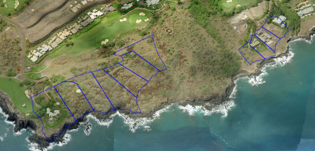 Lanai Oceanfront with Parcel Shapes