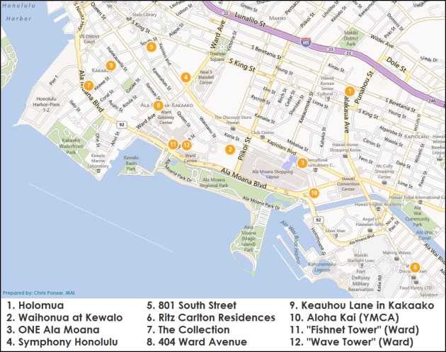 Oahu Condo Project Map - Chris Ponsar, MAI