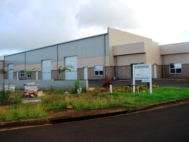 A typical industrial warehouse in Puhi, Kauai, Hawaii