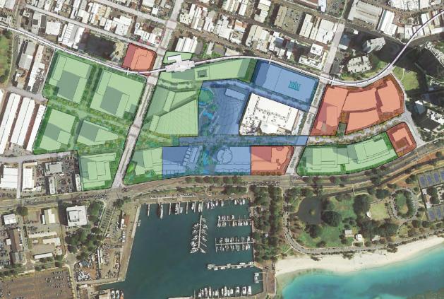 Kakaako - Ward Neighborhood Master Plan Phasing Diagram